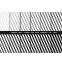 collection seamless striped patterns black and vector image