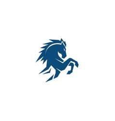 Creative standing blue horse logo vector