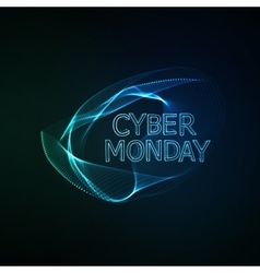 Cyber Monday sale flyer design template vector