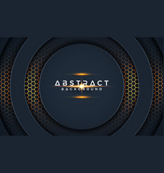 dark 3d modern circle paper cut background vector image