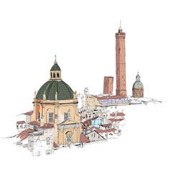 drawing sketch verona vector image
