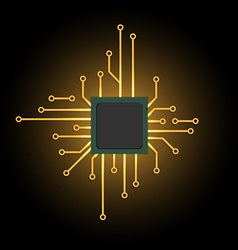 Electronic chip vector image