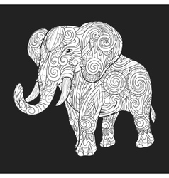 Elephant ornament ethnic vector image