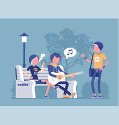 emo hanging out vector image