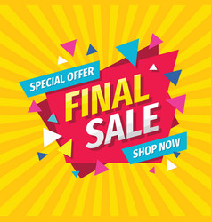 final sale concept banner template design discoun vector image
