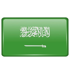 Flags Saudi Arabia in the form of a magnet on vector