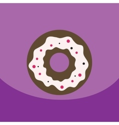 flat icon design collection donut with vector image