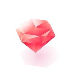 Glittering isometric light diamond icon vector