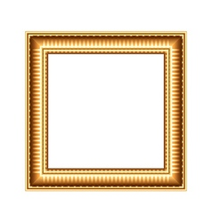 Golden art frame isolated on white vector
