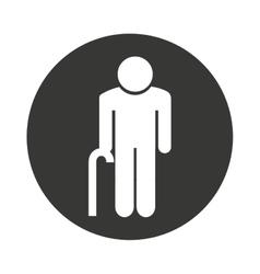 Grandparent silhouette isolated icon vector