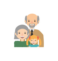grandparents granddaughter family image vector image