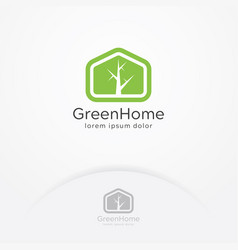 green home logo vector image