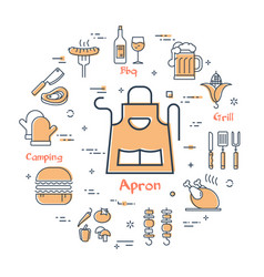 grill concept - apron vector image