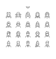 hats well-crafted pixel perfect vector image
