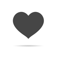 heart icon isolated on a white background vector image
