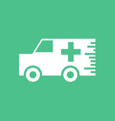 Icon ambulance with a cross vector