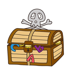 Icon chest vector