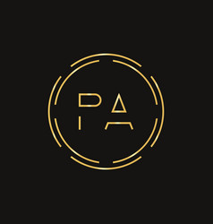 initial letter pa logo design template pa letter vector image