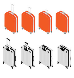 isometric travel suitcase collection vector image