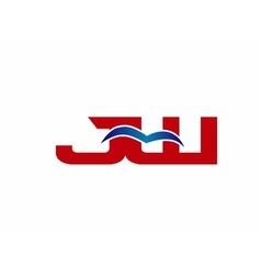 JW Logo Graphic Branding Letter Element vector