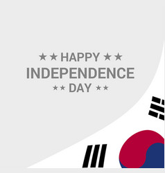 Korea south independence day typographic design vector