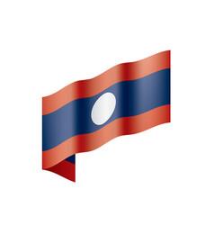 laos flag vector image
