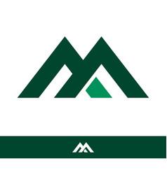 letter m line logo design vector image