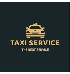 Logo Best Taxi car flat style icon vector image