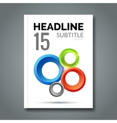 Magazine Cover with circles For book brochure vector