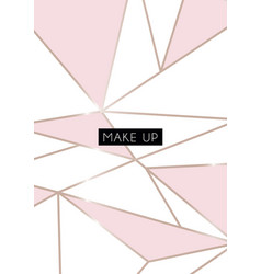 makeup poster card abstract geometric poster vector image