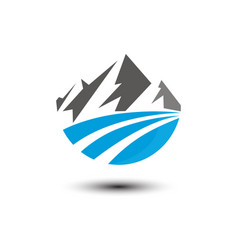 mountain logo image design template vector image