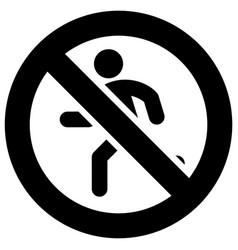 No running forbidden sign modern round sticker vector