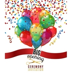 Opening Ceremony Invitation Background vector
