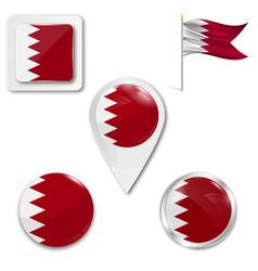 Original and simple bahrain flag isolated vector
