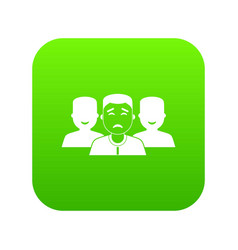 people group icon digital green vector image