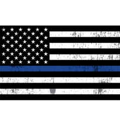 Police Law Enforcement Grunge Flag vector