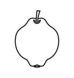 Quince fruit icon outline style vector