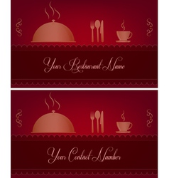 Restaurant business card vector