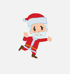 santa claus runs alarmed vector image