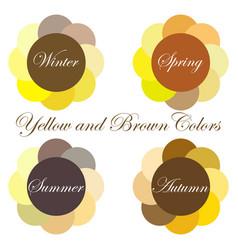 seasonal color analysis palettes vector image
