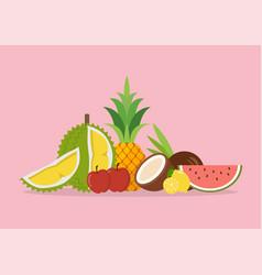 seasonal organic exotic fruits vector image
