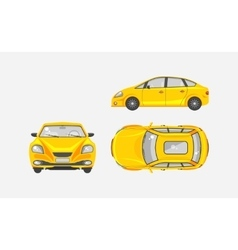 Sedan car top front side view vector image