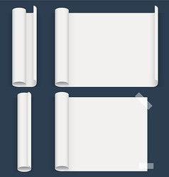 Set of sheets a different form Whatman paper vector