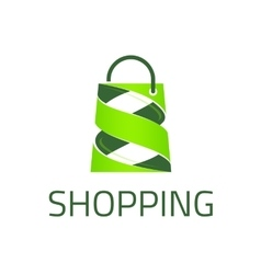 Shopping logo template vector image