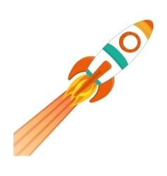 space rocket vehicle icon vector image