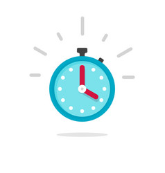stopwatch or timer with fast time count down icon vector image