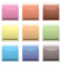 subtle square plastic web icon vector image
