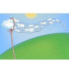 Summer Clouds in the Net vector image