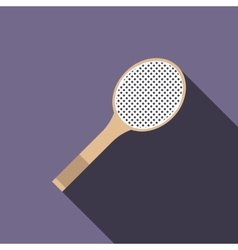 Tennis racquet icon flat style vector image