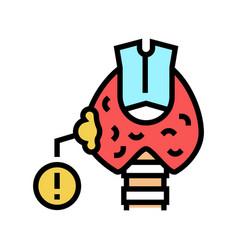 Thyroid cancer color icon vector
